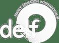 Delf logo white icon